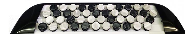 Cromatic button accordion